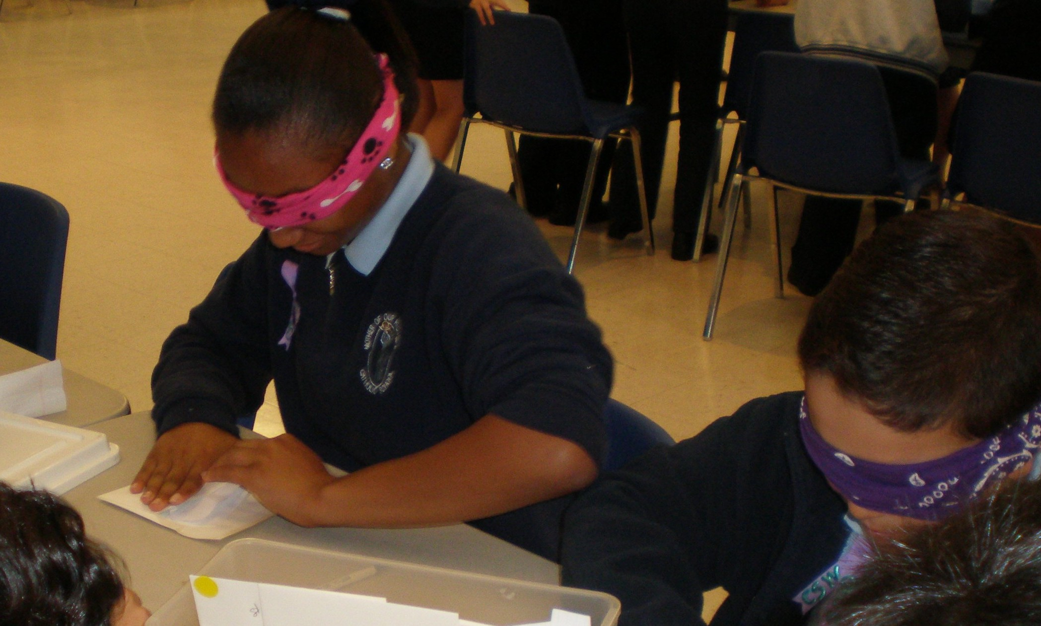 Students at Mother of Our Redeemer Catholic School learn about visual impairment